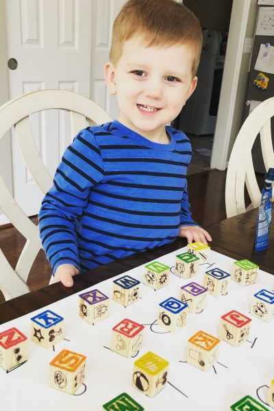 Quick alphabet matching game for toddlers
