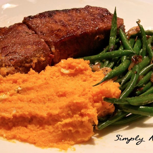 Steak, Sweet Potato Mash, Green Beans