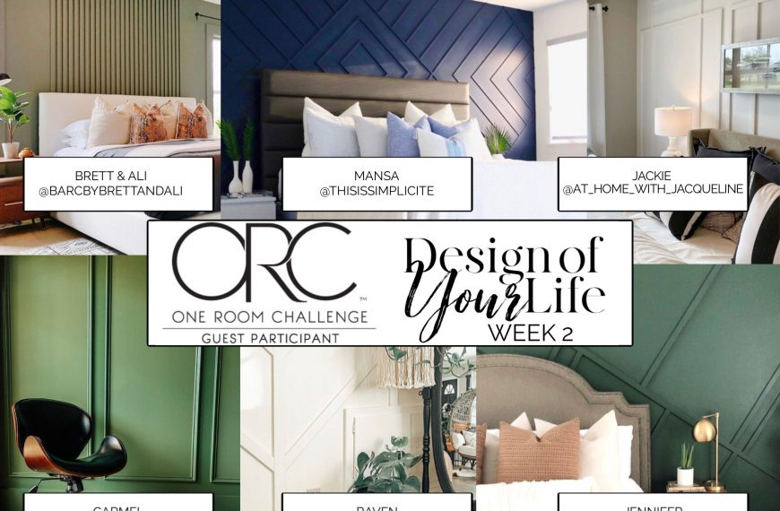 One Room Challenge: Inspiration for the Master Bedroom Feature Wall