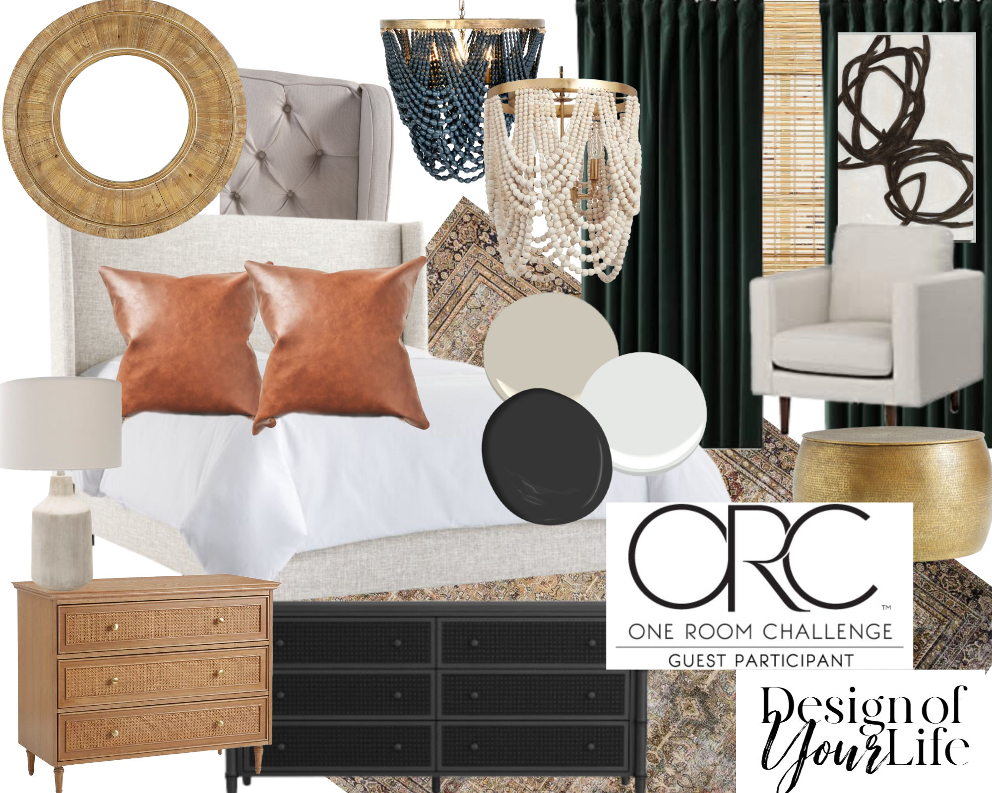 One Room Challenge Design of Your Life Master Bedroom Mood Board
