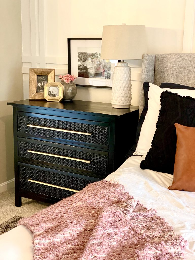 DIY transformation or hack of IKEA Hemnes dresser chest