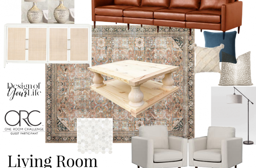One Room Challenge Spring 2021 Week 1: Let's Finish this Living Room